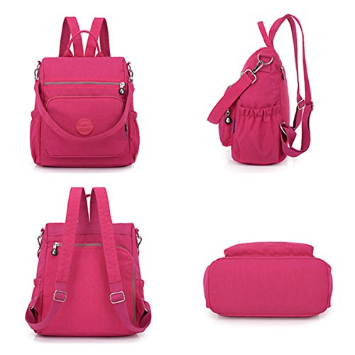 Women JOSEKO Casual Backpack Theft Green Multi Waterproof Anti Function Nylon Shoulder Ladies Bag Bddqwr