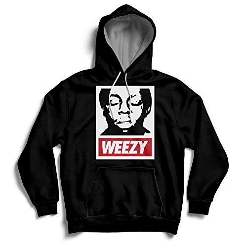 Weezy Louisiana Obey Lil Wayne Streetwear Street Hoody MP3 Earphone Loops Hoodie Black (Best Lil Wayne Albums In Order)