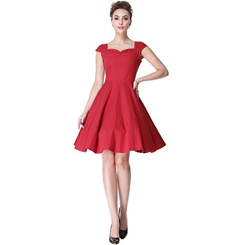 Heroecol Vintage 1950s 50s Dress Style Retro Rockabiily Cocktail Heart XXL RD