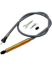 3,175 mm flexaxeladapterfäste flexibel elborrförlängningskabelchuck för Dremel roterande slipmaskin träbearbetningsverktyg med skiftnyckel kompatibelt roterande slipverktyg med skiftnyckel (guld)