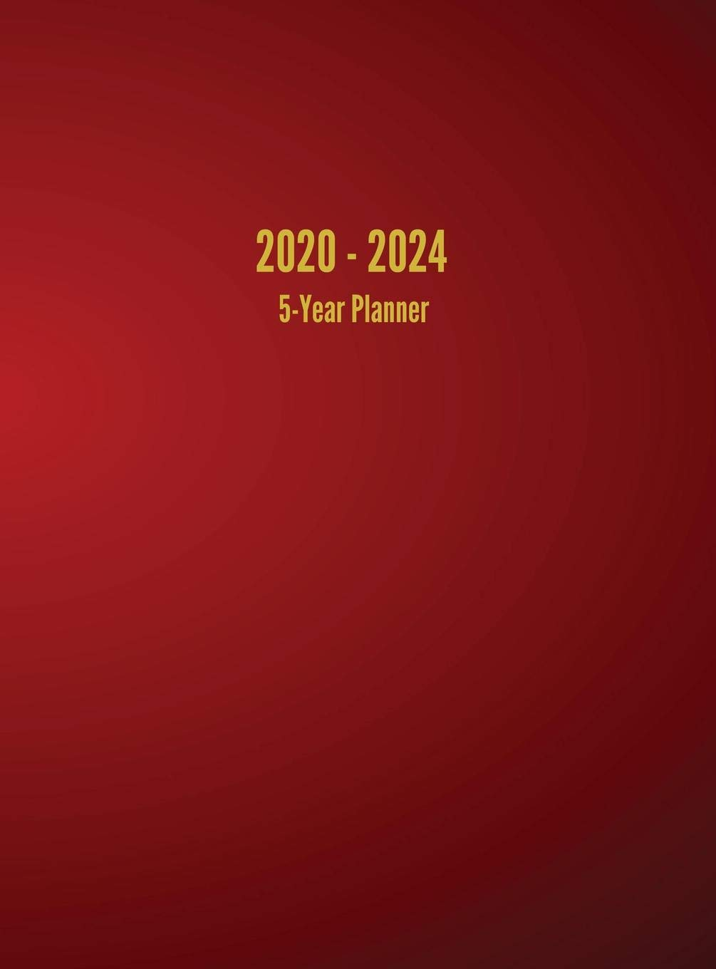 2020 – 2024 5-Year Planner: 60-Month Calendar (Red)