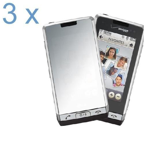 (Durable Mirror Reusable LCD Screen Protector -3 Pack for Verizon LG Dare VX9700 Cell Phone)