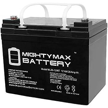 Amazon.com: 12 V 35 Ah batería Int sustituye a Interstate ...
