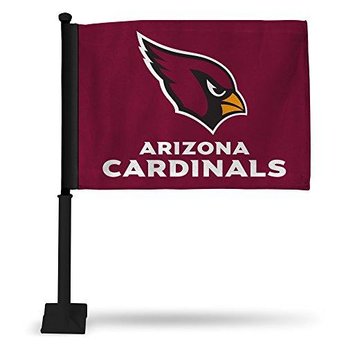NFL Arizona Cardinals Car Flag, Maroon, with Black Pole