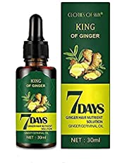 Ginger Germinal Oil,7 Day Herb Germinal Serum, Ginger Essential Oil Stop Hair Loss Hair, Promotes Thicker Hair Regrowth Growth Serum,for Women & Men