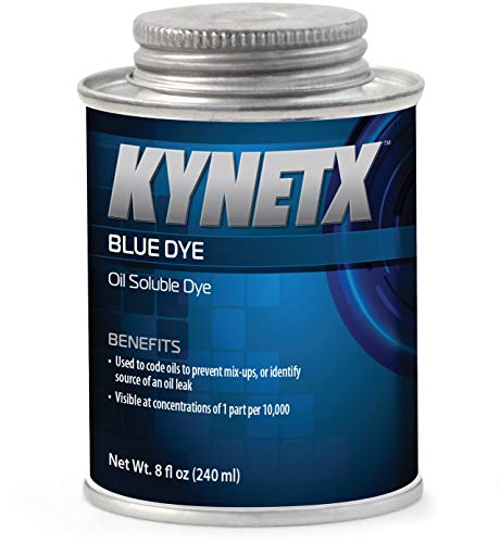 (Kynetx Blue Dye, Concentrated Oil Soluble Dye Additive, 8 fl. Oz. Can, KN9025, Ideal for coding oils to prevent mix-ups or identify the source of an oil leak. Visible at 1 part per 10,000.)