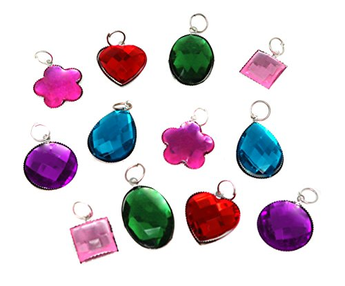 Gemstone Charms For Bracelets Necklaces And Arts And Crafts - Pack Of 72 Large Charms