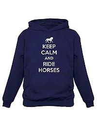 Tstars - Keep Calm Ride Horses - Horse Lover Riding Women Hoodie