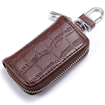 Buy Genuine Leather Key Holder Zipped Key Pouch Keychain Auto Car Key Case  Bag Online at Low Prices in India - Amazon.in 2d345b310ddd