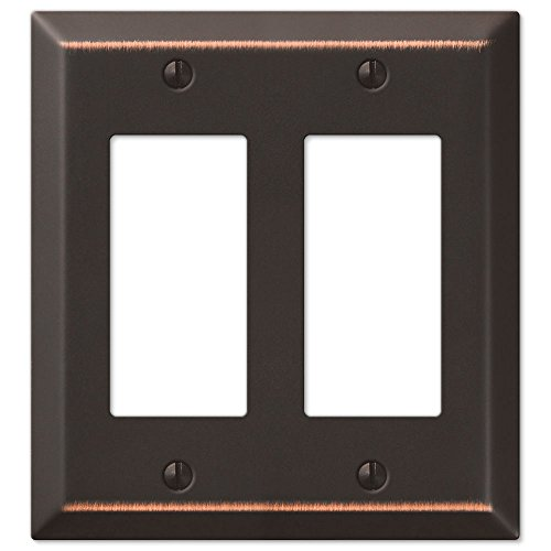 Double GFCI Rocker 2-Gang Decora Wall Switch Plate, Oil Rubbed Bronze (Bronze Double Rocker)