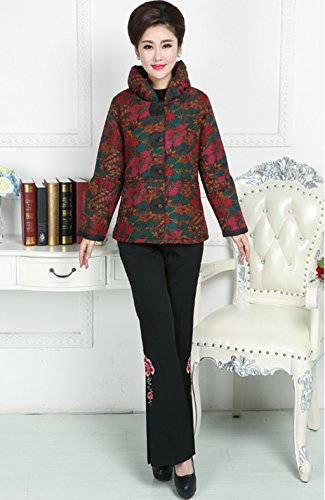 100% Mulberry Silk Womens Tang Suits Cotton-padded Jackets Chinese Coats Womens Jackets by Womens Tang Suit (Image #4)