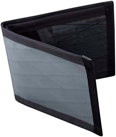 Flowfold Vanguard Slim Front Pocket Bifold Wallet - Light Weight - Minimalist - Made in the USA - Grey