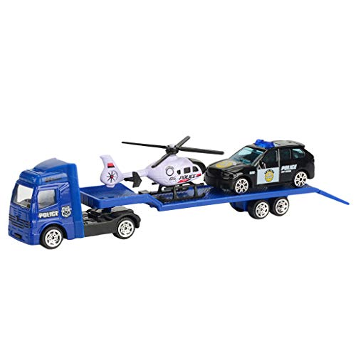 callm Children Educational Toy Truck Toy Car Model Scenes Set Portable Storage
