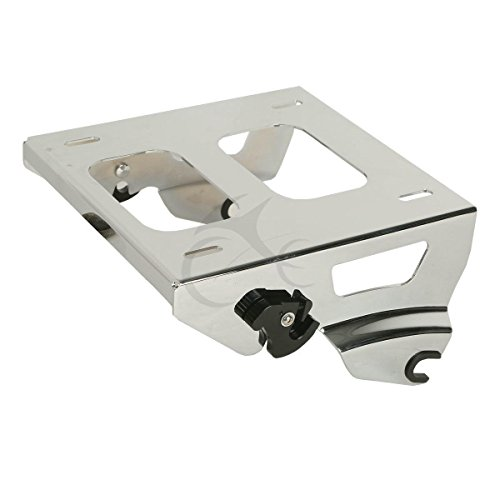XFMT Chrome Solo Tour-Pak Mounting Rack Compatible with Harley Road King Street Glide 2014-UP 2015