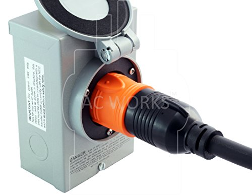 AC WORKS [AD515L1420] 15Amp Household Plug NEMA 5-15P to Generator 4 Prong 20Amp L14-20R (Two hots bridged) by AC WORKS (Image #5)