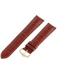 Hirsch 010280-70-20 20 -mm  Genuine Leather Alligator Embossed Watch Strap