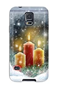 Faddish Phone Christmas Lights Widescreen Case For Galaxy S5 / Perfect Case Cover