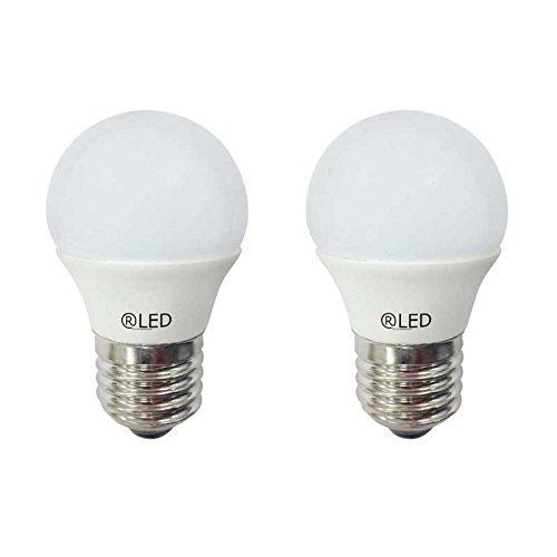 RLED Pack de Bombillas LED Esféricas, Luz Neutra E27, 5.2 W, Blanco, 4.5 x 7.4 cm, 2 Unidades: Amazon.es: Iluminación