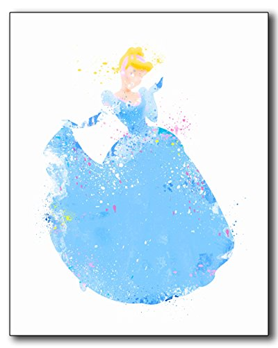 100 Years Old Costume Ideas (Cinderella Disney Princess Watercolor Photo Prints - Unique Kids Wall Art)