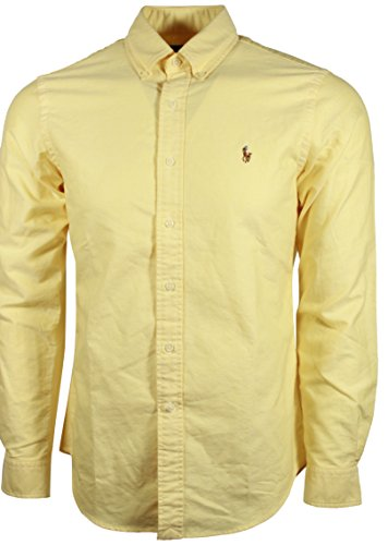 Polo Ralph Lauren Mens Classic Fit Buttondown Oxford Shirt (Bsr Yellow, Small) -