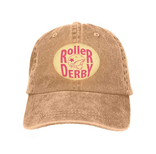 Baseball Caps Trucker Caps Bones Hip Hop Hats for Men Women Roller Derby Helmet Typography Sand Color