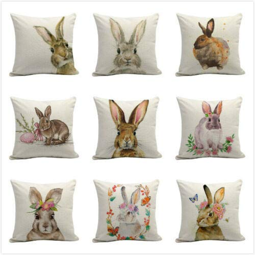 Xmas Cushion Coversclearance Sale,Dog Cushion Covers,Easter Sofa Bed Home Decoration Festival Rabbit Pillow Case Cushion Cover