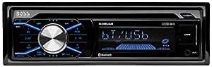 BOSS Audio 508UAB Single Din, Bluetooth, CD/MP3/WMS/USB/SD AM/FM Car Stereo, Wireless Remote