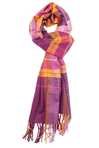 Purple Pink Plaid Fleece - 5