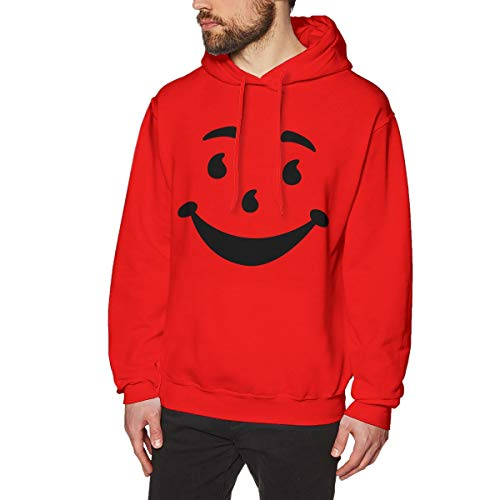 Kool Aid Man Name (Men's Hoodie Kool-Aid Man Sports Sweatshirt Red)
