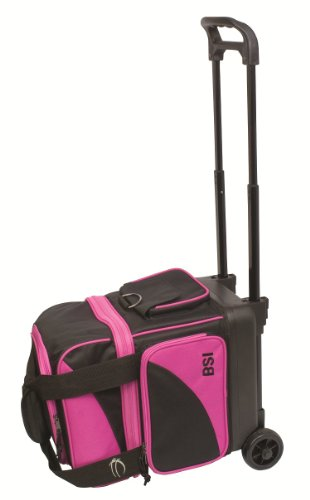 BSI Single Ball Roller Bag (Black/Pink)