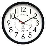 Electric Contemporary Clock, 14-1/2'', Black