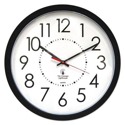 Electric Contemporary Clock, 14-1/2'', Black