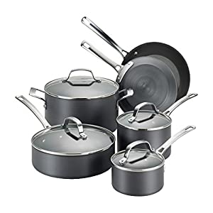 Circulon-83591-Genesis-Hard-Anodized-Nonstick-Cookware-Pots-and-Pans-Set-10-Piece-Black