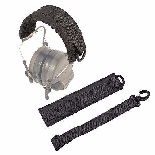 LIVIQILY Advanced Modular Headset Cover Headband for General Tactical Earmuffs Microphone Hunting Shooting Headphone Cover (Black)