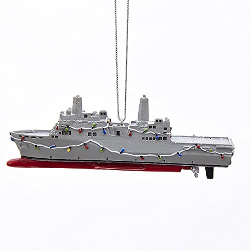 Kurt Adler Navy Ship Ornament product image