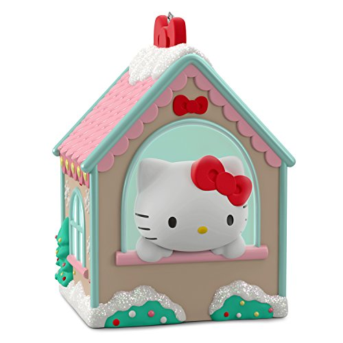 Hallmark Keepsake Christmas Ornament 2018 Year Dated, Sanrio Hello Kitty Gingerbread House (2019 Sanrio Christmas)