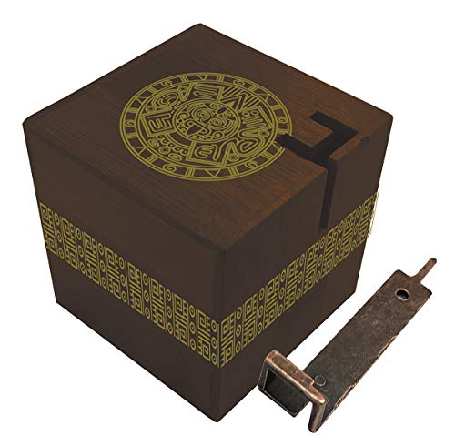 - True Genius Aztec Passage Hidden Corridor Puzzle Box