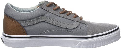 Vans Old Skool, Zapatillas Unisex Niños Gris (C/yellow)