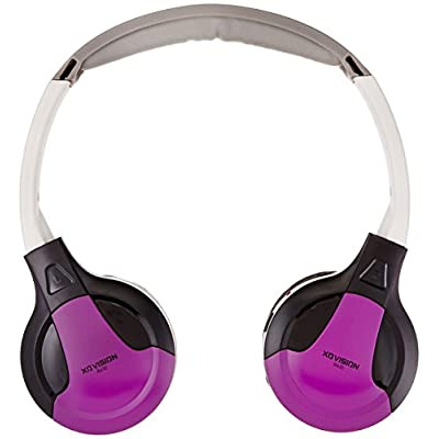 XO Vision  Universal IR Headphones - In-Car Wireless Foldable Headphones, DVD Player, In-Car System, Custom Fit, Wireless Entertainment: Home Audio & Theater