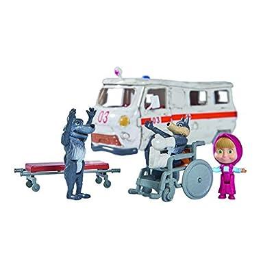 Simba 109309863 Bear Masha Play Set Ambulance, Nylon/A: Toys & Games