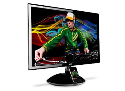 AOC E2343FI 23 - Inch Widescreen LED Monitor with iPhone/iPod Docking Station and SRS Premium Sound Speakers - Black from ENVISION