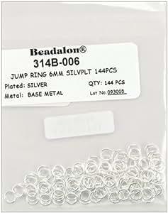Beadalon - Jump Rings 6mm 144/Pkg - Silver