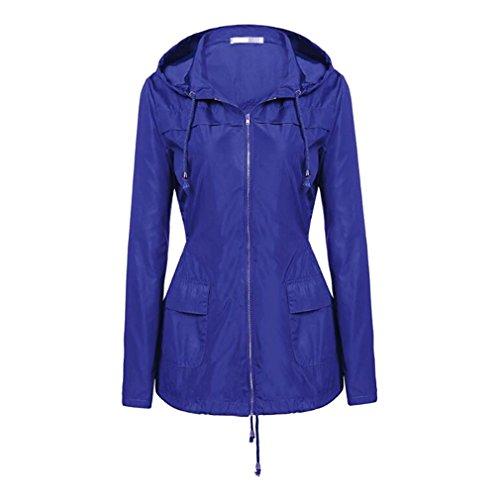 Capispalla Scuro Mxssi Viaggio Cappuccio Per Leggero Blu Con Cappotto Parka Giacca Impermeabile Da Donna Antivento 7w1g67qp