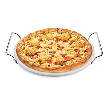 Hero Pizza Piedra 33 cm de cordierita. con metalg deslizable para Gas & Carbón barbacoas