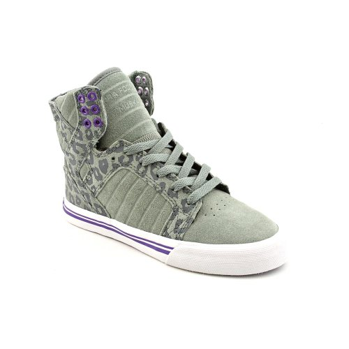 SKYTOP grey cheetah white SUPRA