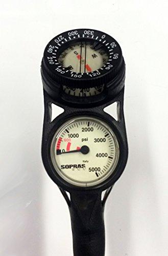 Soprassub DIN Regulator Set with Octo, SPG, Compass and Flex Hoses Scuba Diving Reg Air Nitrox Compatible FREE REGULATOR BAG