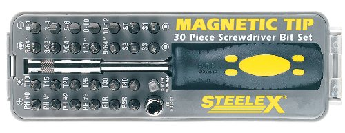 Steelex D2032 Magnetic Tip Screwdriver Bit Set, 30-Piece ()