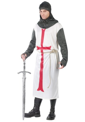 FunWorld Templar Knight, White, One Size (Adult Super Deluxe King)