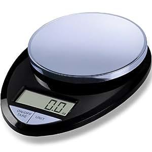 EatSmart Precision Pro Digital Kitchen Scale, Black Chrome