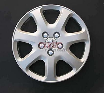/307/di/ámetro 16/Logo cromado Tapacubos Copas Rueda 4/Piezas Peugeot 407/